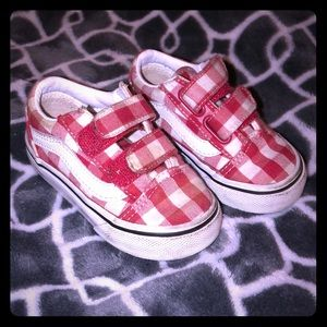 Red and white baby Vans